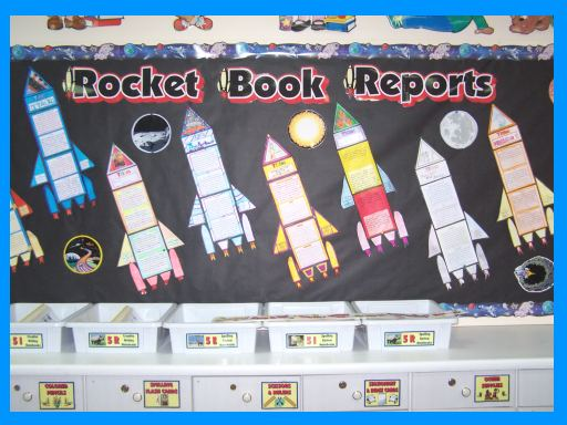 Rocket Book Report Project Bulletin Board Display