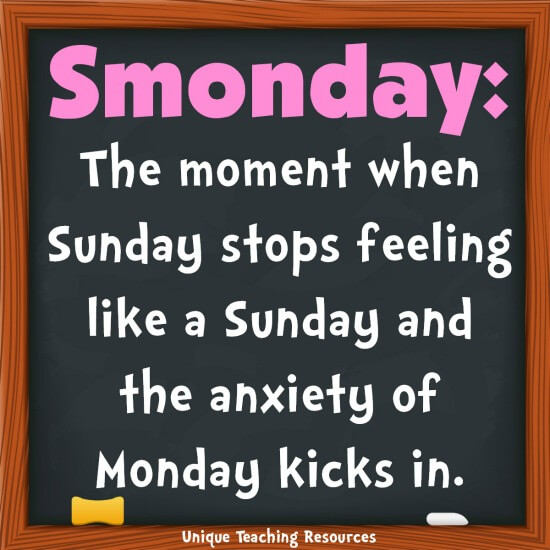 Smonday:  Funny quote about Sunday and Monday