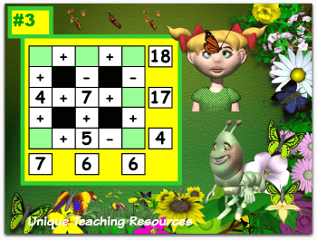 Spring Math Puzzles Powerpoint