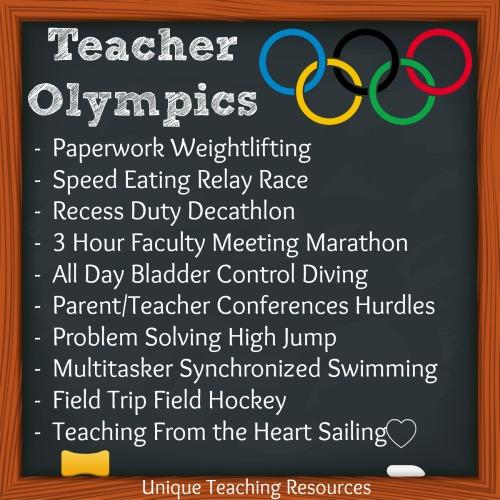 Teacher Olympic Events