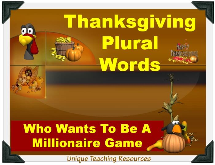 Thanksgiving plural words powerpoint
