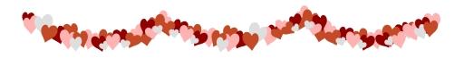 Valentine's Day Hearts Divider