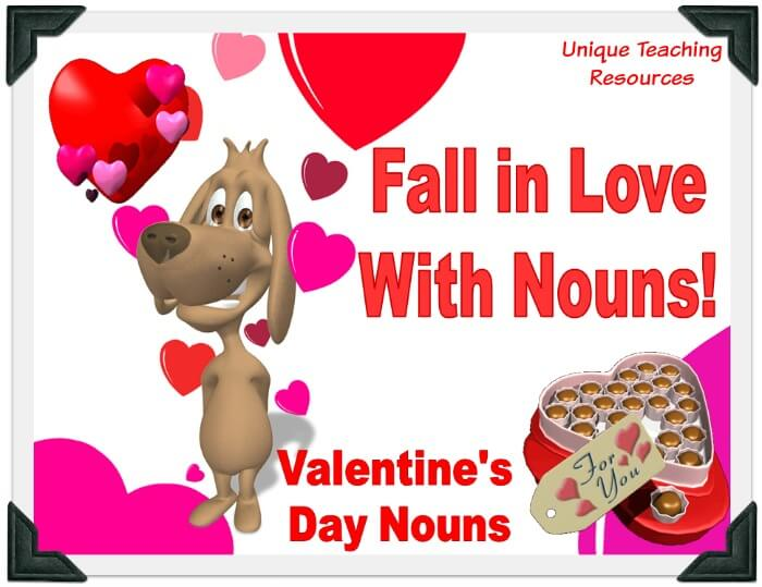 Valentine's Day Nouns Powerpoint Lesson