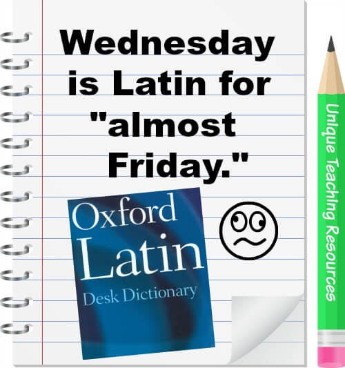 Wednesday is Latin for