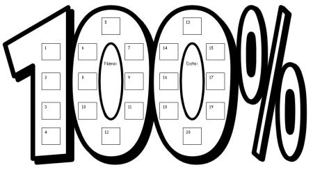 100 percent club sticker charts fun incentive charts for kids