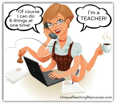Funny multi-tasking busy teacher meme