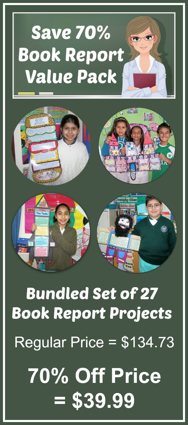 Book Report Value Pack - 27 Fun, Unique, and Extra Large Book Report Projects