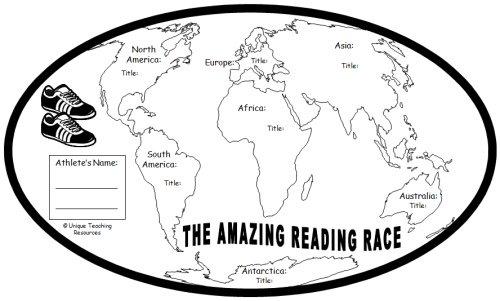 Amazing Reading Race Around the World Student Reading Map