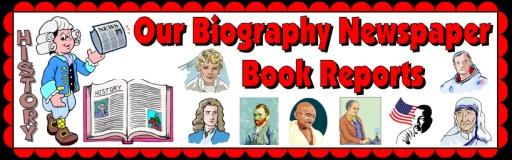 Biography Book Report Newspaper Bulletin Board Display Example