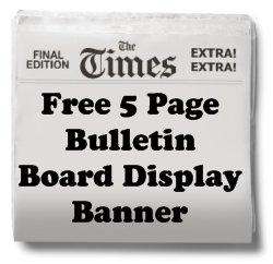 Biography Book Report Free Bulletin Board Display Banner