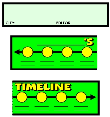 Biography Newspaper Timeline Templates