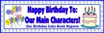 Birthday Cake Book Report Projects Bulletin Board Display Banner