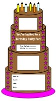 Main Character Birthday Cake Book Report Templates