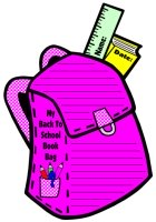 Back to School Book Bag Creative Writing Templates