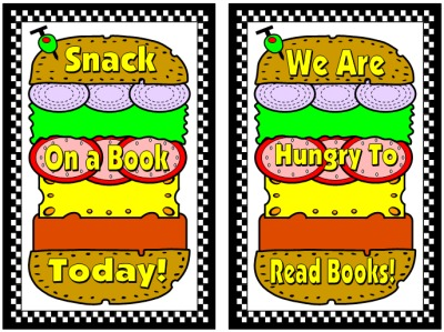 Cheese Burger Book Report Projects Display Ideas