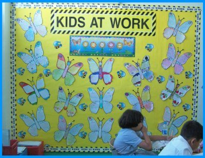 Butterfly Book Reports Bulletin Board Display