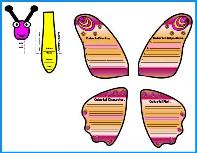 Butterfly Book Report Templates and Worksheets