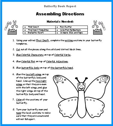 Butterfly Book Report Project Directions