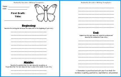 Spring Butterfly Creative Writing Stories First Draft Worksheets