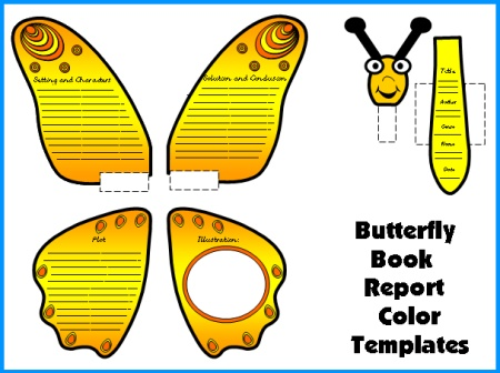 Butterfly Book Report Project Templates Spring Bulletin Board Display Ideas