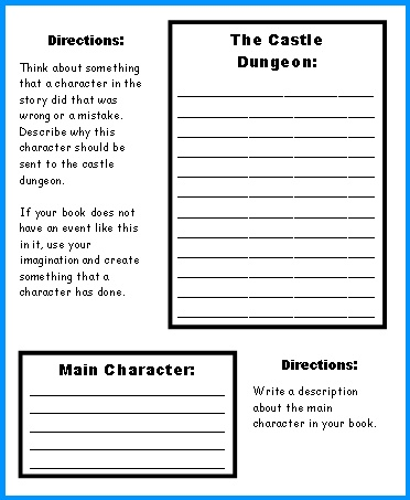 Medieval Times Castle Book Report Project First Draft Worksheets