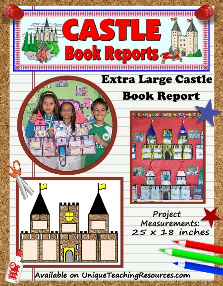 Castle Book Report Project Templates For Fairy Tales Themes