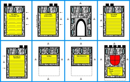 Medieval Castle Book Report Group Project Color Templates