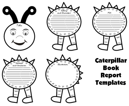 caterpillar book report project templates worksheets grading rubric banner. Black Bedroom Furniture Sets. Home Design Ideas