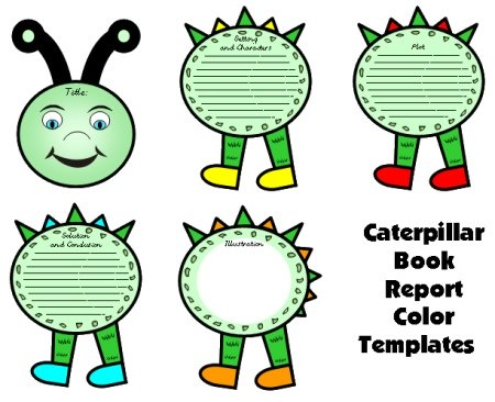 Caterpillar Book Report Projects Templates Spring Bulletin Board Display Ideas