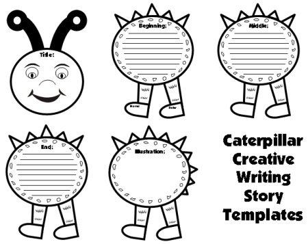 Spring Caterpillar Creative Writing Templates