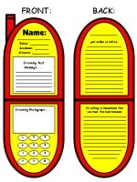 Cell Phone Book Report Project Templates