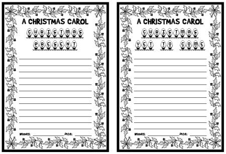 A Christmas Carol Charles Dickens Creative Writing Lesson Plans Idea