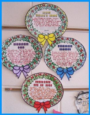 A Christmas Carol Group Reading Project Bulletin Board Display