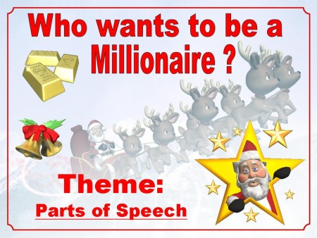 Christmas Powerpoint Grammar Lesson Activity:  Nouns, Verbs, Adjectives, and Adverbs