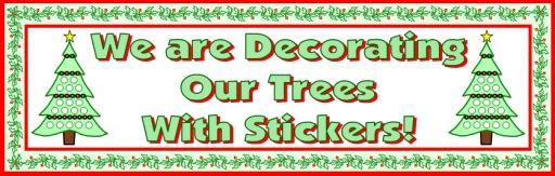 Christmas Tree Sticker Charts Banner