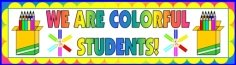 Color Pencil Creative Writing Templates Bulletin Board Banner