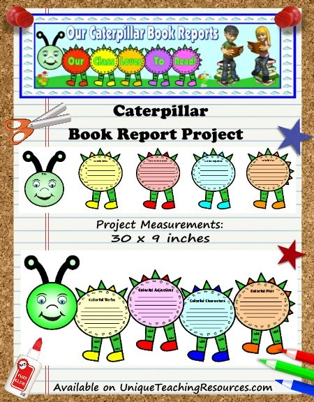 Creative Book Report Project Ideas - Caterpillar Templates