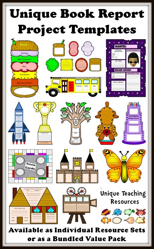 Book Report Templates Extra Large Fun And Creative Book