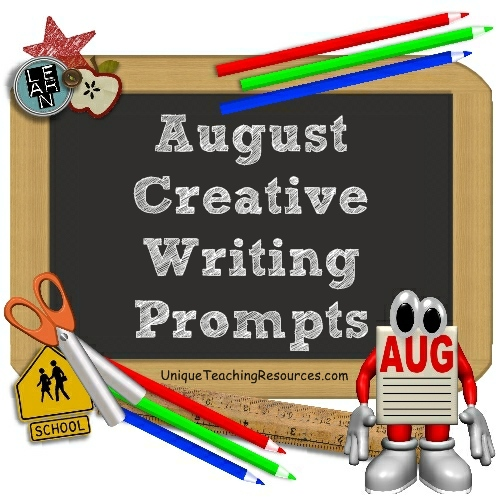August and Back To School Writing Prompts and Creative Journal Ideas