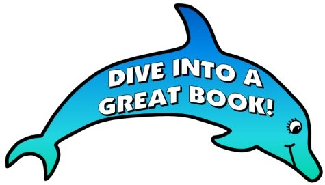 Dive Into Reading Books Classroom Bulletin Board Display Dolphin
