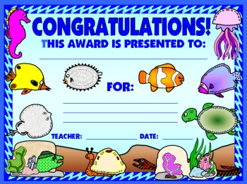 Dive Into Reading Genre Book Award Certificate Elementary Students