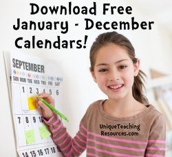 Download free printable classroom calendars for pocket charts.