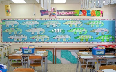 The Enormous Crocodile Bulletin Board Display of Group Book Report Projects Roald Dahl