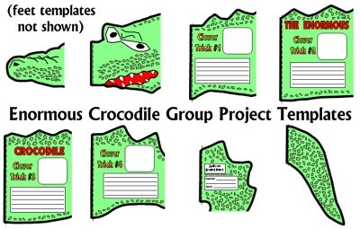 The Enormous Crocodile Fun Group Book Report Project Templates Roald Dahl