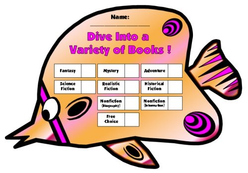 Dive Into Reading Sticker Charts Butterfly Fish Templates