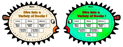 Puffer Fish Sticker Charts and Templates