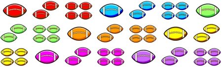 Football Sticker Chart Bulletin Board Display Accent Pieces