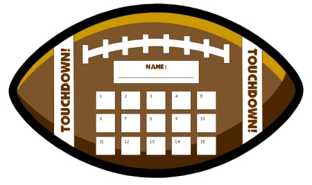 Football Sticker and Incentive Charts and Templates