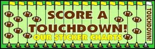 Football Field Sticker Chart Bulletin Board Display Banner