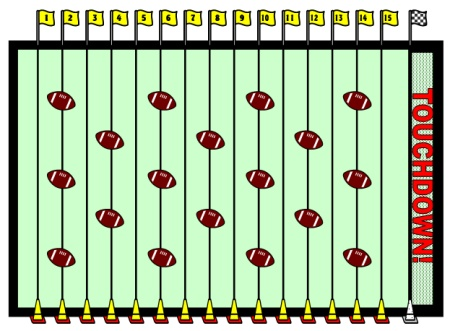 Football Field Example for Sticker Charts Set